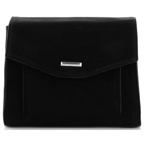 klasyczne i eleganckie torebki damskie listonoszki skórzane czarne (kolory) marki Silvia rosa