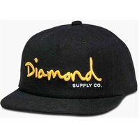 czapka z daszkiem DIAMOND - Og Script Unconstructed Sb H17 Black (BLK)