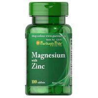 Tabletki Puritan's Pride Magnez 266mg + Cynk 10mg 100 tabl.