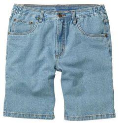 Bermudy dżinsowe z elastycznym paskiem Classic Fit bonprix jasnoniebieski, bawełna
