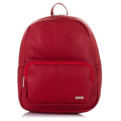 bd00bc74c8ba5 Paolo Peruzzi Plecak damski vintage skóra naturalna czerwony - czerwony  Paolo peruzzi