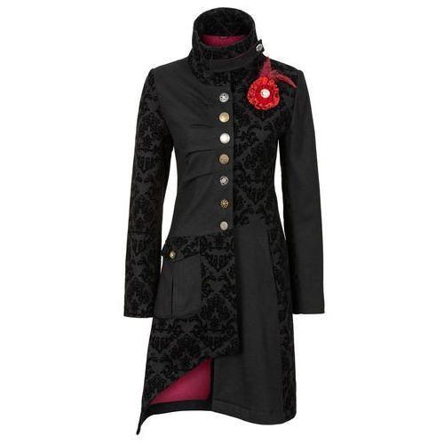 Krótki płaszcz czarny marki Bonprix