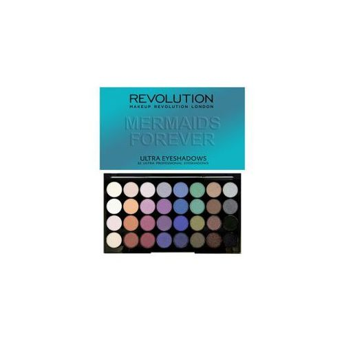 Makeup revolution ultra eyeshadow mermaids forever palette 2016 collection paleta 32 cieni 20g