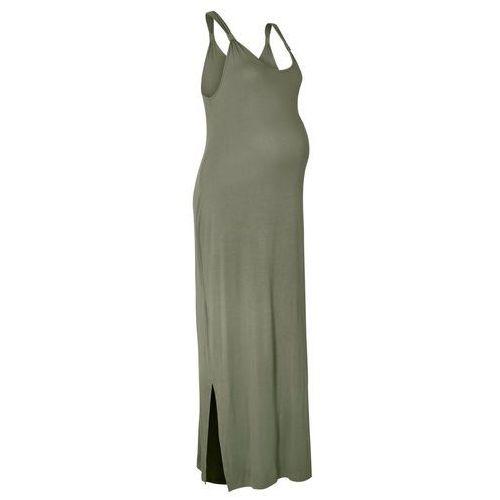 Sukienka ciążowa shirtowa oliwkowy, Bonprix, 32-54