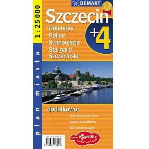 Szczecin plus 4 1:25 000 plan miasta, praca zbiorowa