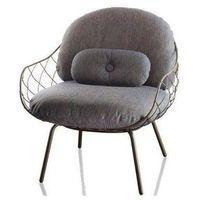 Fotel niski Pina szare rama i siedzisko, szare nogi, sd2000-grey-5119