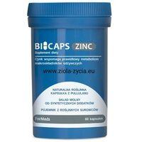 BICAPS ZINC 15 Naturalna roślinna kapsułka z Pullulanu - ForMeds (5903148620237)