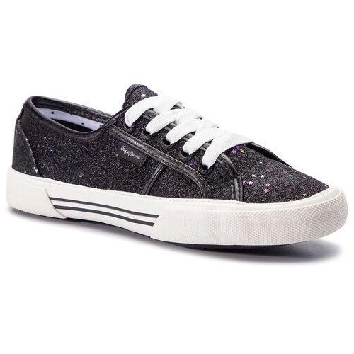 Tenisówki - aberlady stars pls30817 black 999 marki Pepe jeans