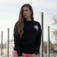 GymBeam Damska bluza dresowa The Best Version Black