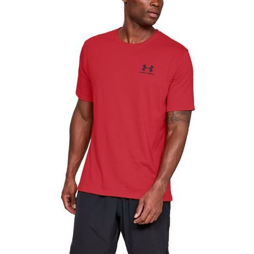 Under armour koszulka sportstyle left chest ss czerwona - czerwony