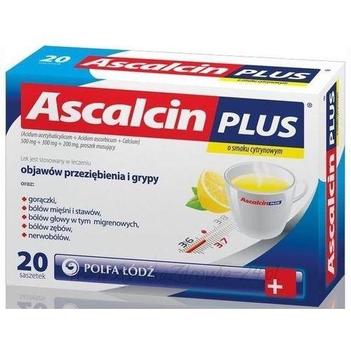 ASCALCIN Plus x 20 sasz. cytrynowy