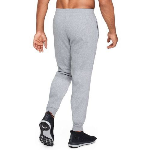 spodnie dresowe sportowe armour fleece jogger szare - szary marki Under armour