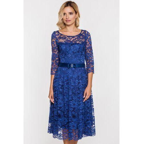 Sukienka z granatowej koronki - Gapa fashion