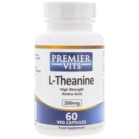 Kapsułki Premier Vits L-Theanine (L-Teanina) 200 mg - 60 kapsułek