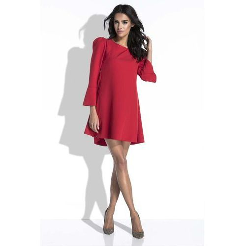 2d697fa899 Zobacz ofertę Sale Czerwona sukienka mini o linii a z dekoltem na plecach
