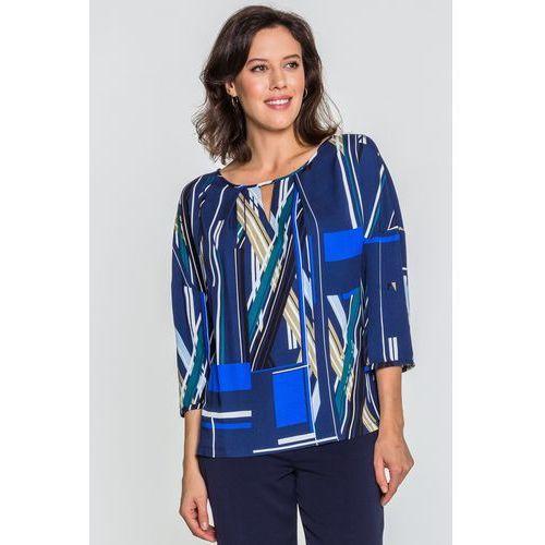 df88ff77940941 Granatowa bluzka we wzory - , kolor niebieski (Vito Vergelis) opinie ...