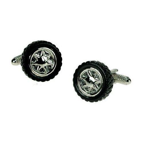 Spinki do mankietów Opona Samochodowa czarna, kolor czarny