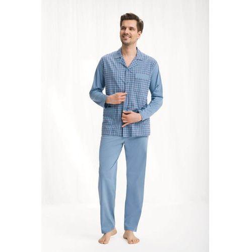 Piżama męska LUNA kod 797 rozpinana niebieski SIZE PLUS, kolor niebieski
