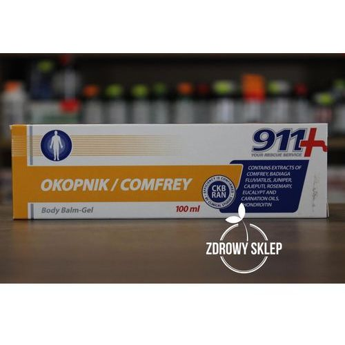 911 żel balsam do ciała z żywokostem na bole stawów 100ml, KB12