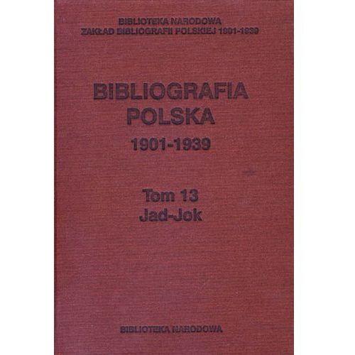 Bibliografia Polska 1901-1939 t.13 Jad-Jok (682 str.)