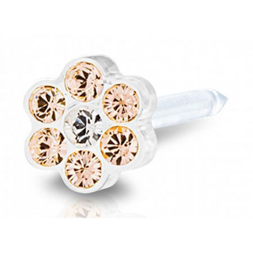 Blomdahl DAISY GOLDEN ROSE / CRYSTAL 5 mm