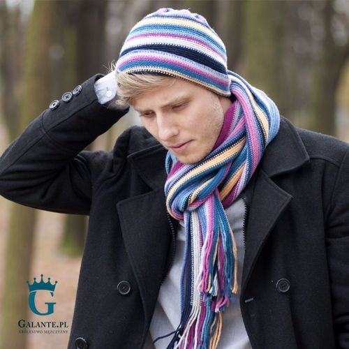 The scarf Zestaw czapka + szalik wełniany slw-70