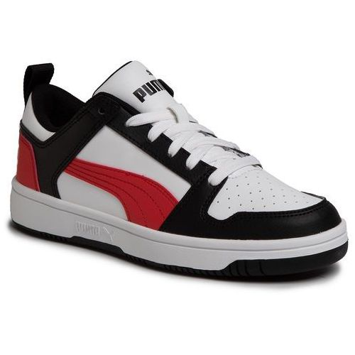 Sneakersy PUMA - Rebound Layup Lo Sl Jr 370490 07 Puma White/Puma Black/Red, kolor biały