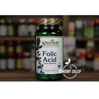 Swanson Folic Acid kwas foliowy 800mcg 250 kapsułek