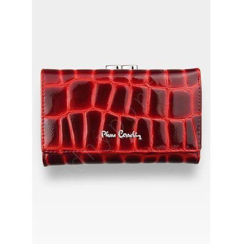 01126e993df41 Pierre cardin Portfel damski skórzany czerwony lakierowany linia coco 108 -  fotografia