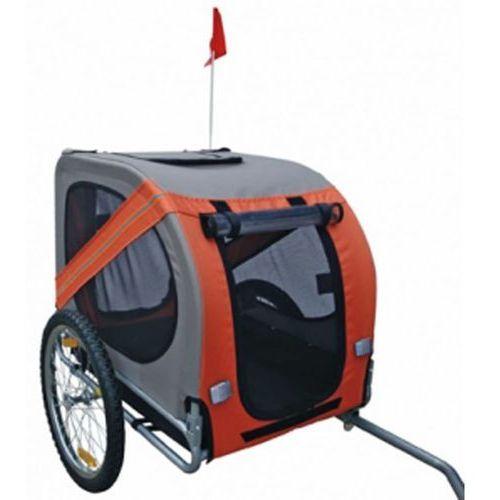 Vidaxl przyczepka rowerowa dla psa, pomarańczowa
