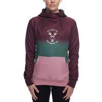 bluza 686 - Cora Bonded Flc Pullover Wine Dip Dye (WNE)