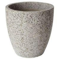 Donica efekt cementu okrągła 40 cm szara marki Verve