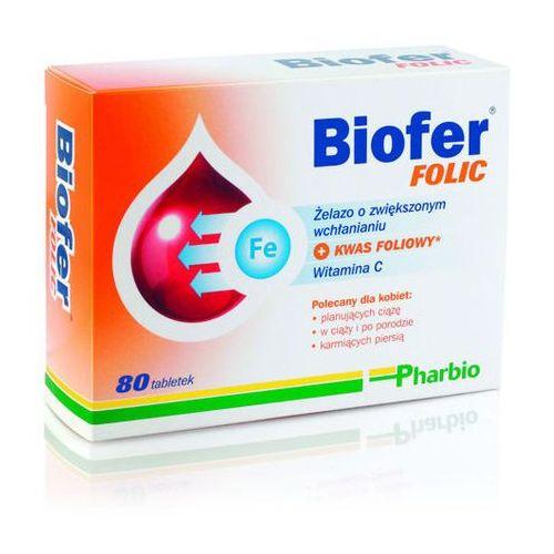 Tabletki BIOFER Folic x 80 tabletek