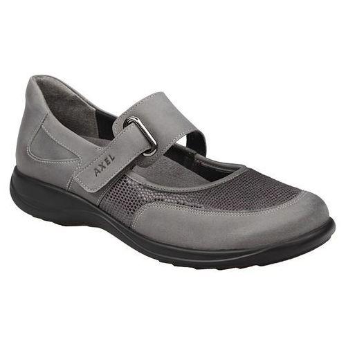 Półbuty na rzepy buty comfort 1576 popiel marki Axel
