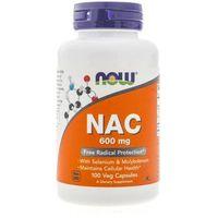 Now Foods NAC N-Acetyl Cysteine 600 mg - 100 kapsułek