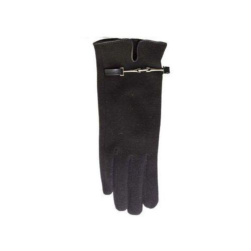 Rękawiczki YO! R-028 Klamerka damskie ROZMIAR: 24 cm, KOLOR: czarny/nero, YO!