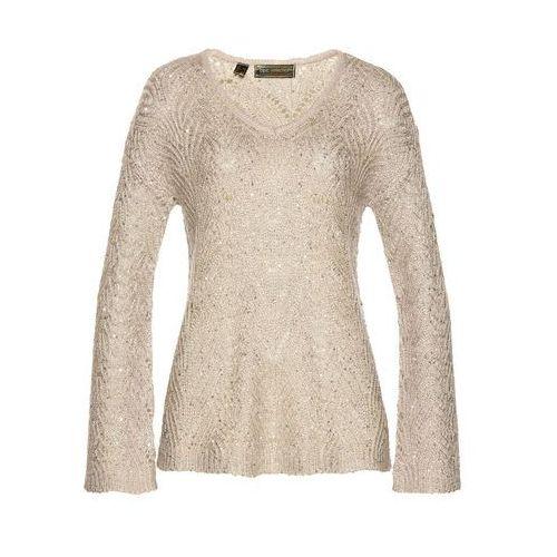 Sweter beżowy Bonprix