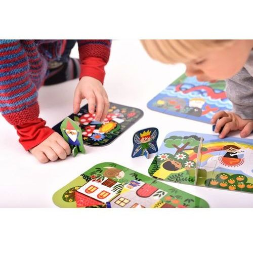 ▷ Czuczu puzzle 4w1 dinozaury (Bright Junior Media) ceny