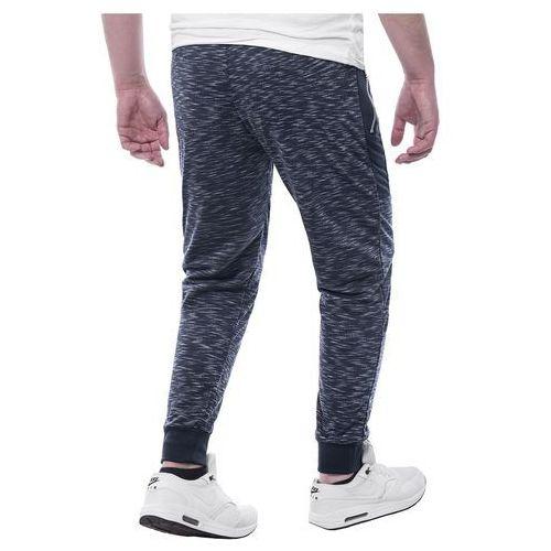 43726b4d1746 Spodnie joggery dresowe NQE8079 - granatowe