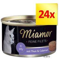 MIAMOR Feine Filets - filety mięsne smak: kura z szynką i ryżem 6x100g (4000158740441)