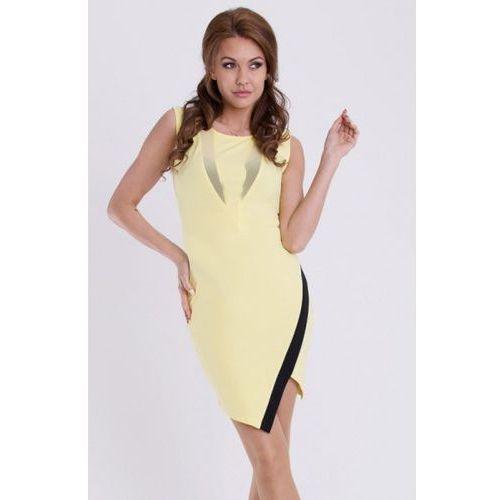 EMAMODA SUKIENKA - CYTRYNOWY 11006-4, kolor żółty