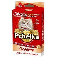 obroża na pchły i kleszcze dla kota z gumką i kamieniami, 30cm marki Pchełka