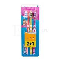 toothbrush classic szczoteczka do zębów 3 szt unisex red, yellow, pink marki Oral-b
