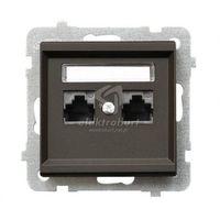 Ospel Gniazdo komputerowe 2x rj45, kat. 5e czekoladowy metalik gpk-2r/k/m/40 sonata (5907577448929)
