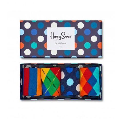 Happy socks Skarpetki giftbox 4 pak xmix09 6000  granatowy