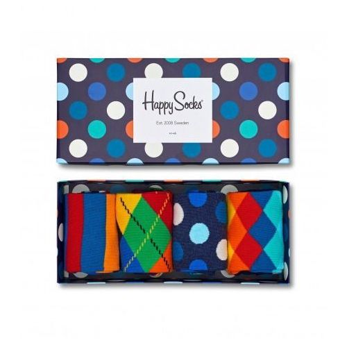 Happy socks Skarpetki giftbox (4-pak) xmix09-6000 - granatowy (7333102035858)