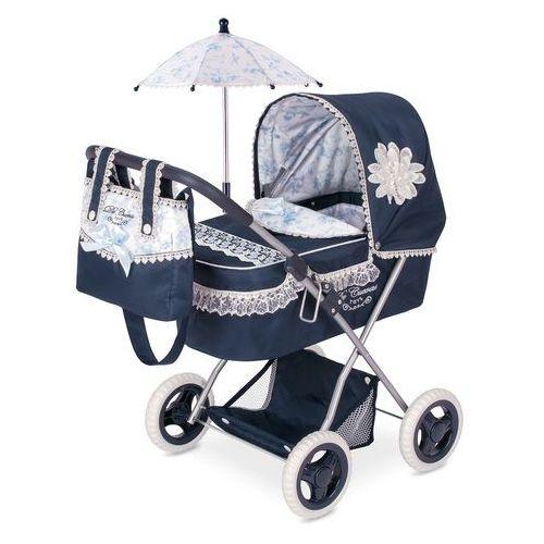 DeCuevas składany wózek dla lalek z parasolem Clasic Romantik 2018-M (4897022850258)