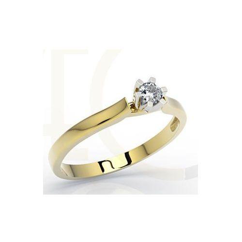Węc Twój Jubiler Pierścionek Zaręczynowy Z żółtego I Białego Złota