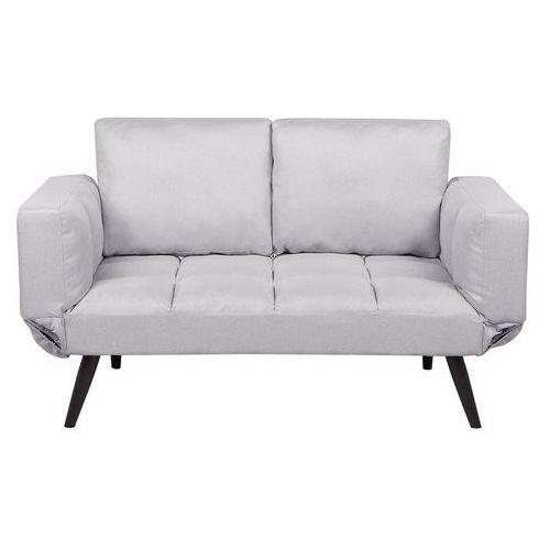 Sofa Rozkładana Tapicerowana Jasnoszara Brekke Beliani