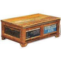 vidaXL Stolik do kawy/skrzynka, 2w1, z drewna rozbiórkowego w antycznym stylu (8718475881643)